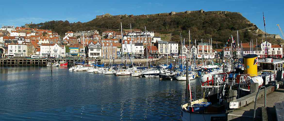 Scarborough harbour and castle
